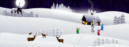 De kaart van de winter vector illustratie
