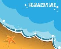 De kaart van de zomer Royalty-vrije Stock Afbeelding