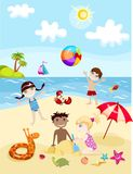 De kaart van de zomer Stock Afbeelding