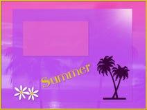De kaart van de zomer Royalty-vrije Stock Foto