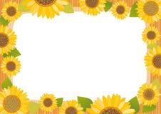 De kaart van de zonnebloem stock illustratie
