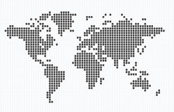 De kaart van Doted van de wereld Royalty-vrije Stock Afbeeldingen
