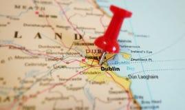 De kaart van Dublin Stock Afbeelding