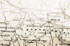 De kaart van Duitsland met BERLIJN Stock Fotografie