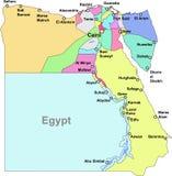 De kaart van Egypte Royalty-vrije Stock Foto's