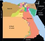 De Kaart van Egypte. Stock Fotografie