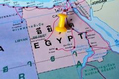 De kaart van Egypte Stock Afbeeldingen