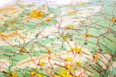 De kaart van Engeland stock fotografie