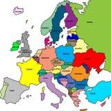De kaart van Europa Royalty-vrije Stock Afbeelding