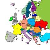 De kaart van Europa Royalty-vrije Stock Fotografie