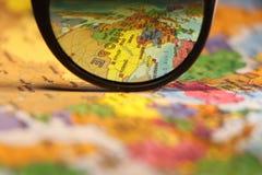 De kaart van de Europese Unie stock fotografie