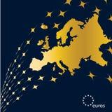 De Kaart van Eurpe Stock Foto