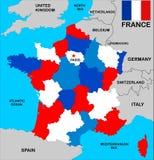 De Kaart van Frankrijk vector illustratie