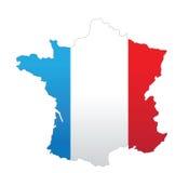 De kaart van Frankrijk Royalty-vrije Stock Foto's