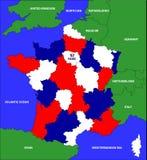 De kaart van Frankrijk Royalty-vrije Stock Fotografie