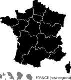 De kaart van Frankrijk Stock Fotografie