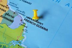 De kaart van Frans Guyana royalty-vrije stock afbeelding