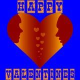 De kaart van de groet voor valentijnskaart`s dag royalty-vrije illustratie