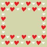 De kaart van de groet voor valentijnskaartendag royalty-vrije stock afbeelding