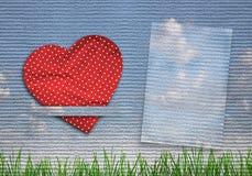 De kaart van groeten met hart Stock Foto's