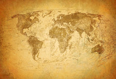 De kaart van Grunge Stock Foto's