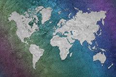 De kaart van Grunge van de wereld Uitstekende stijl Stock Afbeelding