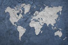 De kaart van Grunge van de wereld Uitstekende stijl Stock Afbeeldingen