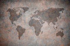 De kaart van Grunge van de wereld stock illustratie