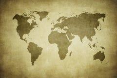 De kaart van Grunge van de wereld vector illustratie