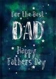 De Kaart van Grungy, Vadersdag voor de Beste Papa Royalty-vrije Stock Afbeeldingen
