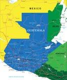 De kaart van Guatemala stock illustratie