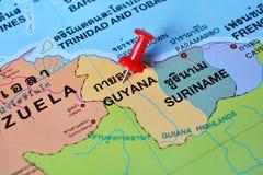 De kaart van Guyana Stock Foto's