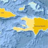 De kaart van Haïti. Stock Foto's