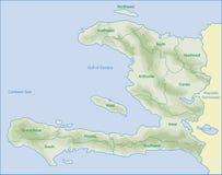 De kaart van Haïti Royalty-vrije Stock Fotografie