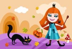 De kaart van Halloween Royalty-vrije Stock Foto's