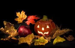 De kaart van Halloween Royalty-vrije Stock Afbeeldingen