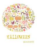 De kaart van Halloween Stock Foto's