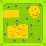 De kaart van Helloween Royalty-vrije Stock Afbeelding