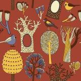 De kaart van de herfst Met extra formaat Vector illustratie Royalty-vrije Stock Foto's