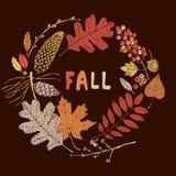 De kaart van de herfst Met extra formaat Vector illustratie Royalty-vrije Stock Afbeelding
