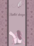 De kaart van het balletontwerp Stock Afbeeldingen