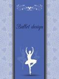 De kaart van het balletontwerp Stock Afbeelding