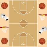 Basketbalkaart royalty-vrije stock fotografie