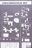De kaart van het campusoverzicht Royalty-vrije Stock Foto