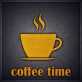 De Kaart van het Conceptontwerp van de Tijd of van de Onderbreking van de koffie Royalty-vrije Stock Foto
