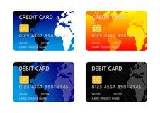 De Kaart van het Debet van het krediet Stock Foto's