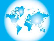 De kaart van het detail van de wereld Stock Foto's