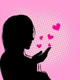 De kaart van het Hart van de liefde. Vector illustraties Royalty-vrije Stock Foto