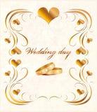 De kaart van het huwelijk Royalty-vrije Stock Foto