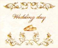 De kaart van het huwelijk Stock Foto's